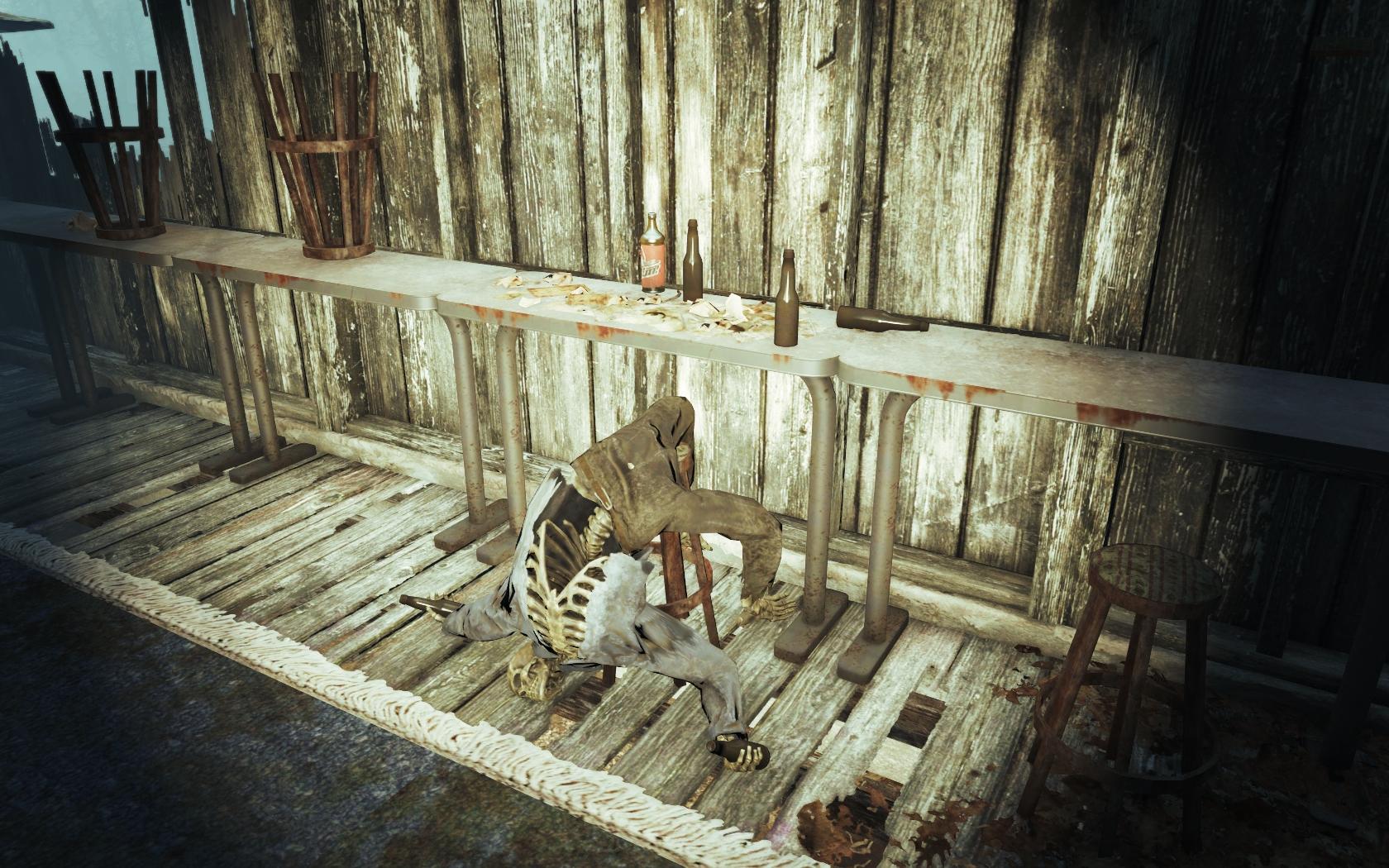 Алканавт (Фар-Харбор, Дубильня Иглс-Коув) - Fallout 4 Дубильня, Дубильня Иглс-Коув, Иглс-Коув, скелет