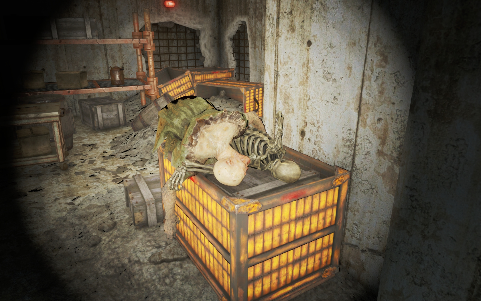 Борьба за выживание (Фар-Харбор, Дубильня Иглс-Коув) - Fallout 4 гуль, Дубильня, Дубильня Иглс-Коув, Иглс-Коув, скелет