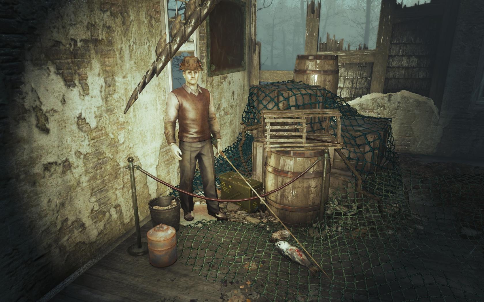 Рыбак (Фар-Харбор, окрестности Океанариума) - Fallout 4 манекен, Океанариум