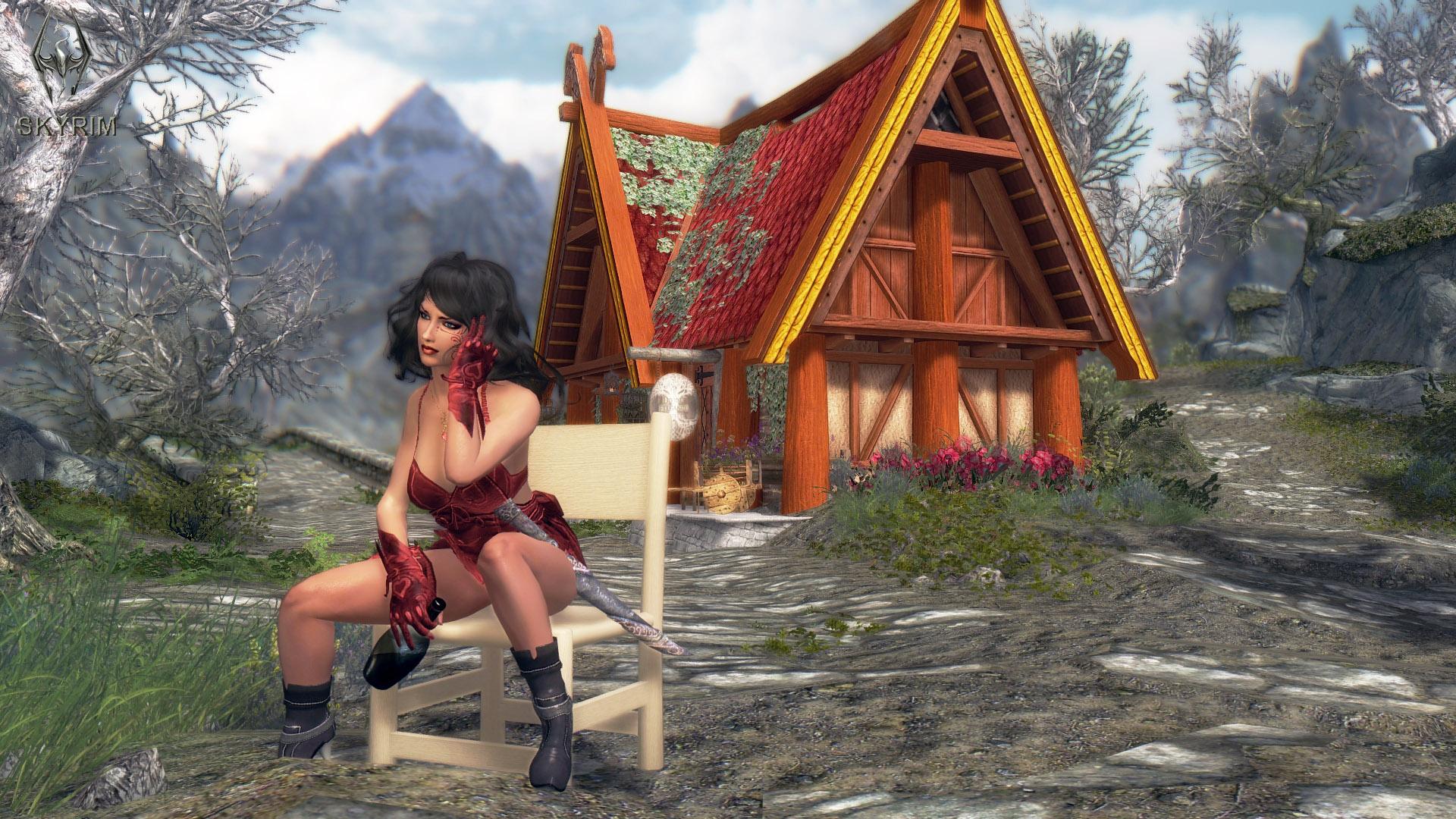 005. Эй, девчата, новый магазин открылся.jpg - Elder Scrolls 5: Skyrim, the CBBE, Сборка-21