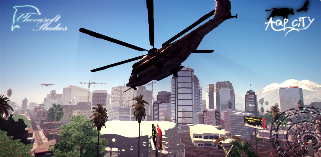 Вертолёт - AQP City Unreal 3