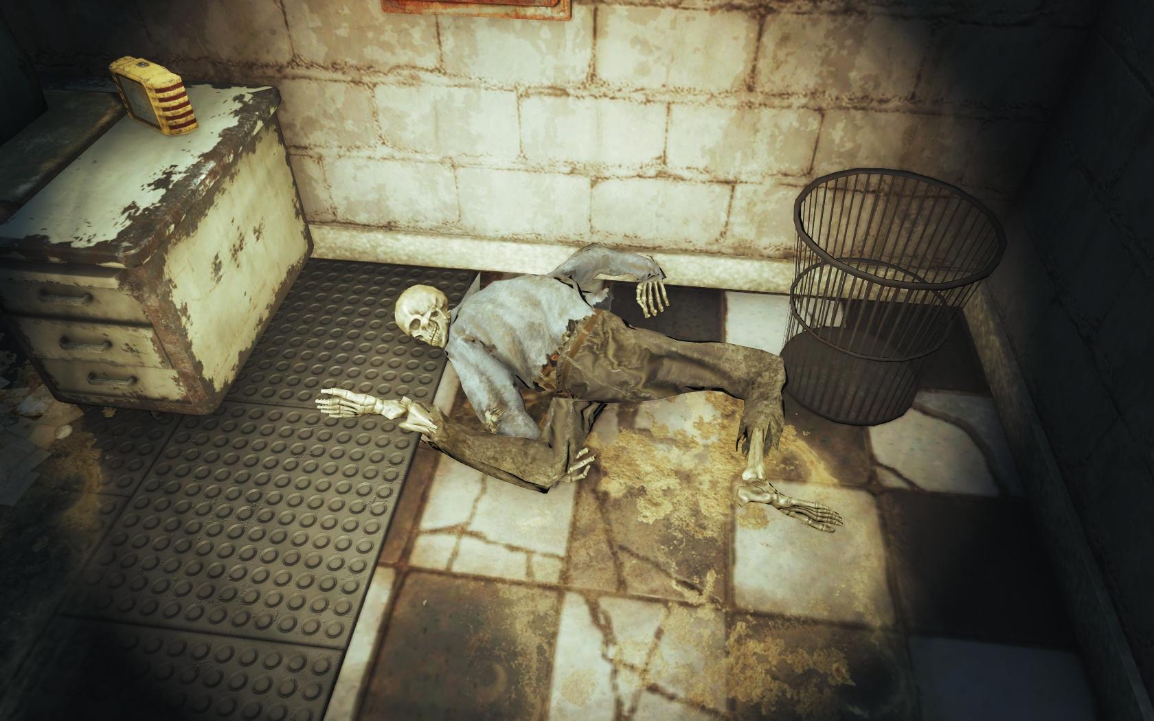 Скрючило (Фар-Харбор, Кинотеатр Райские кущи) - Fallout 4 скелет