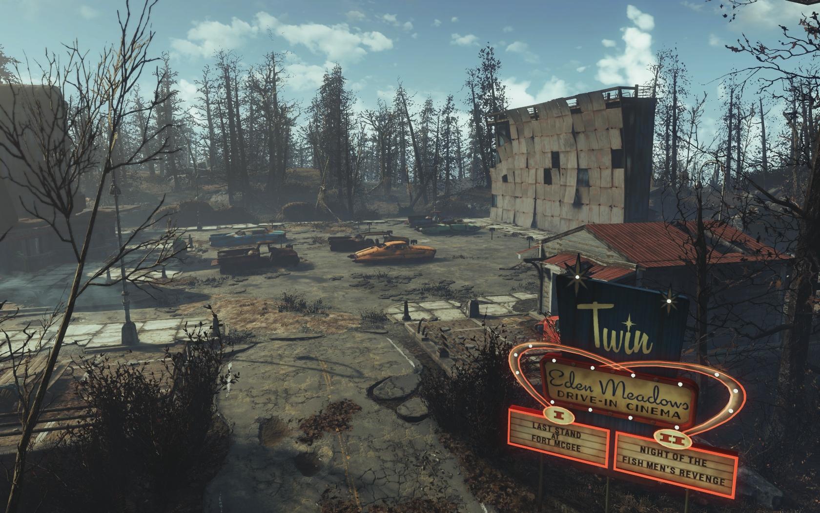 У входа (Фар-Харбор, Кинотеатр Райские кущи) - Fallout 4