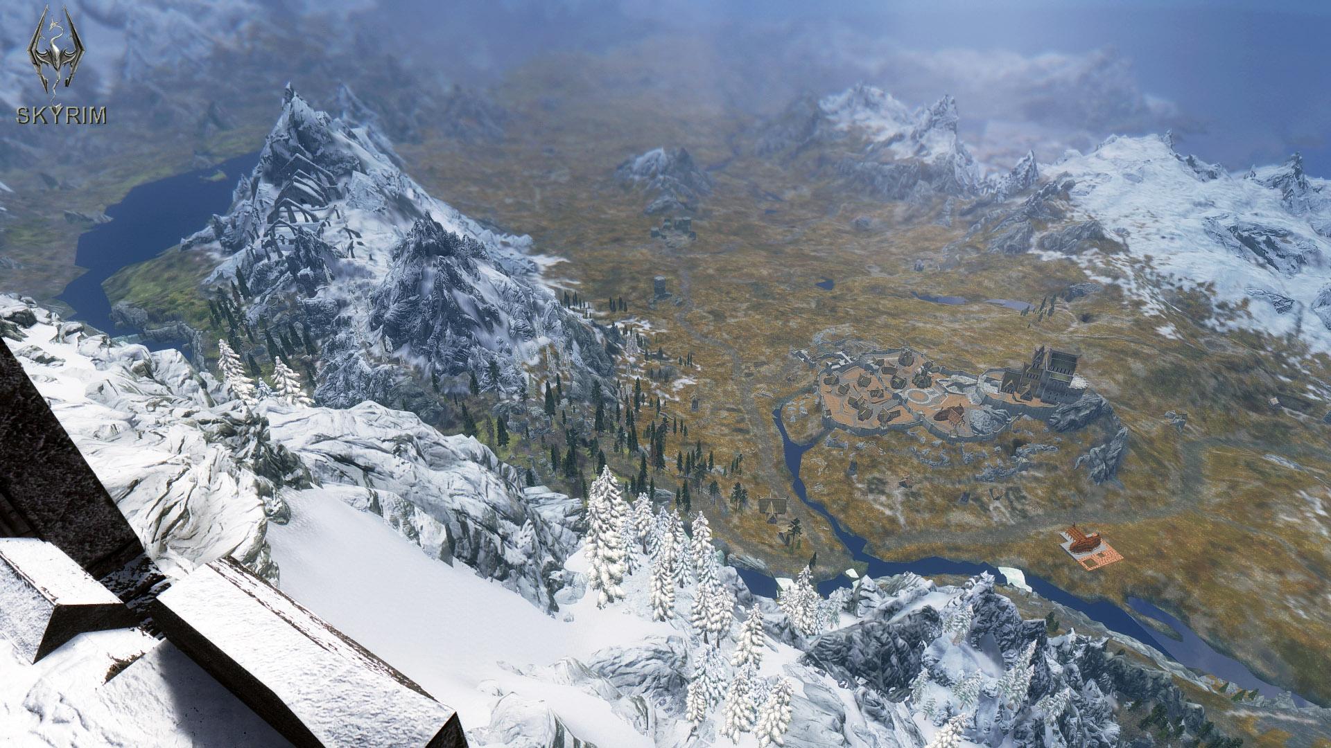 010. Вид на Вайтран с Высокого Хротгара.jpg - Elder Scrolls 5: Skyrim, the Сборка-21