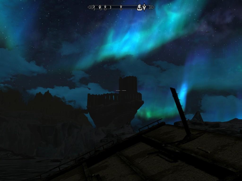 Коллегия Винтерхолда в ночи - Elder Scrolls 5: Skyrim, the