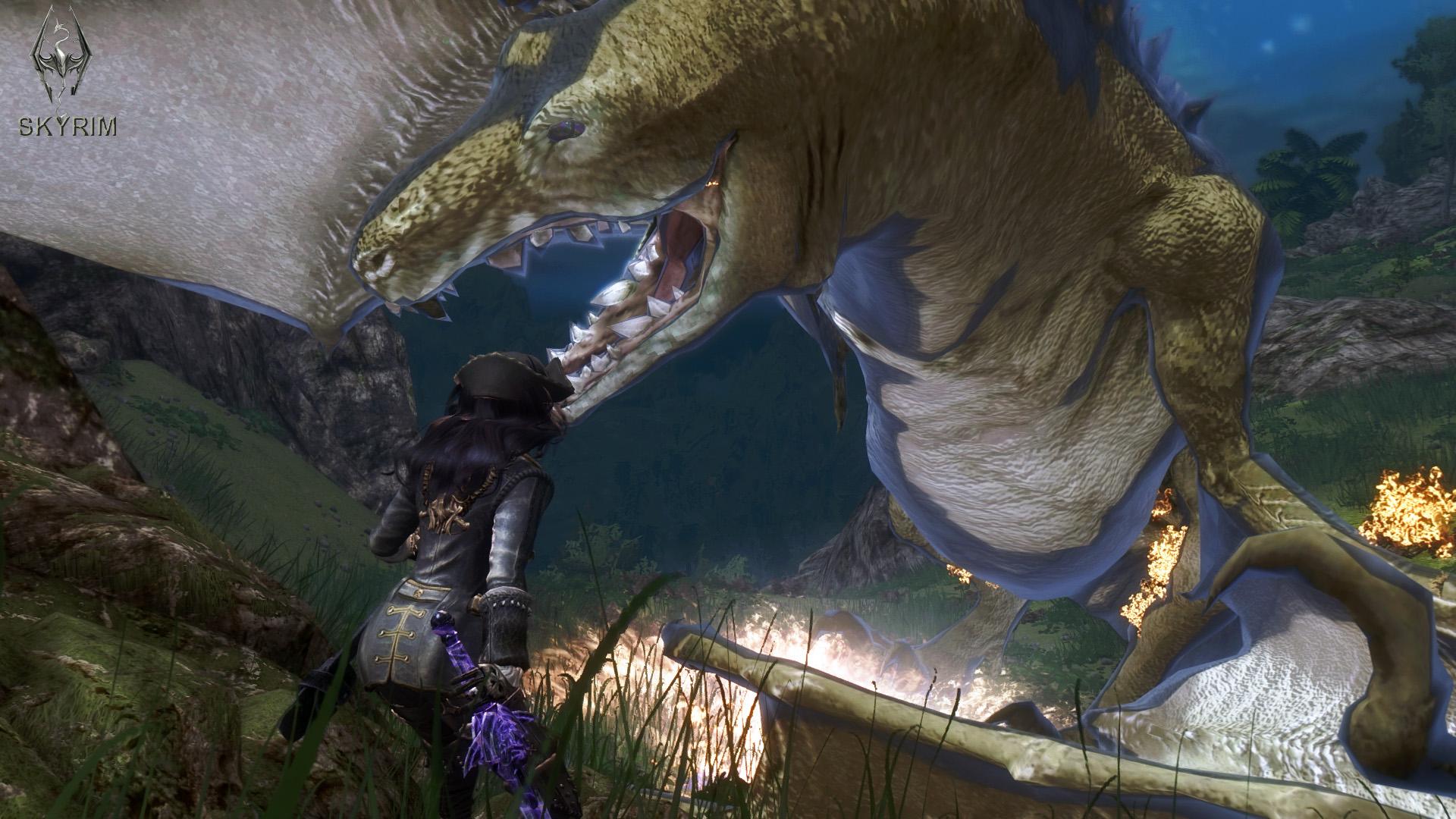 020. Бой с прожорливым драконом.jpg - Elder Scrolls 5: Skyrim, the CBBE, Сборка-21