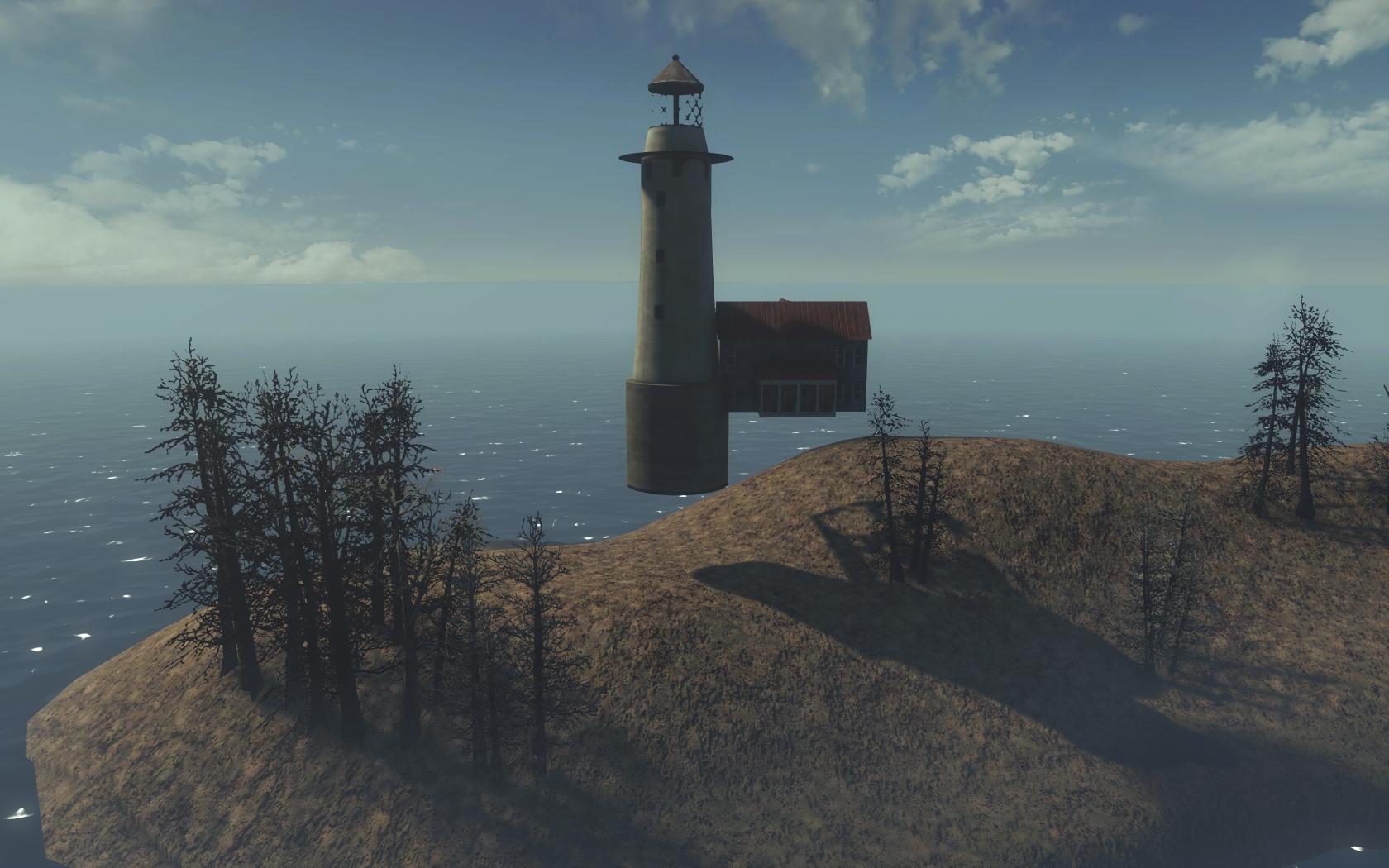 Недоступная локация на границе карты (Фар-Харбор, западнее Лагеря Рок-Пойнт) - Fallout 4 граница карты, Лагерь, Лагерь Рок-Пойнт, локация, Недоступный, Рок-Пойнт