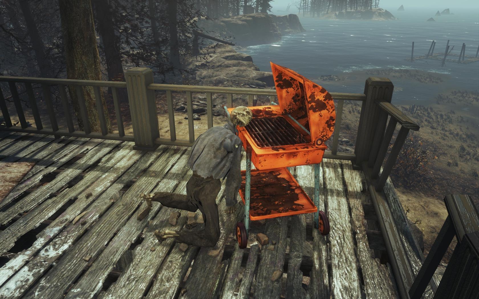 Перекус (Фар-Харбор, Рейберн-Пойнт) - Fallout 4 Рейберн-Пойнт, скелет