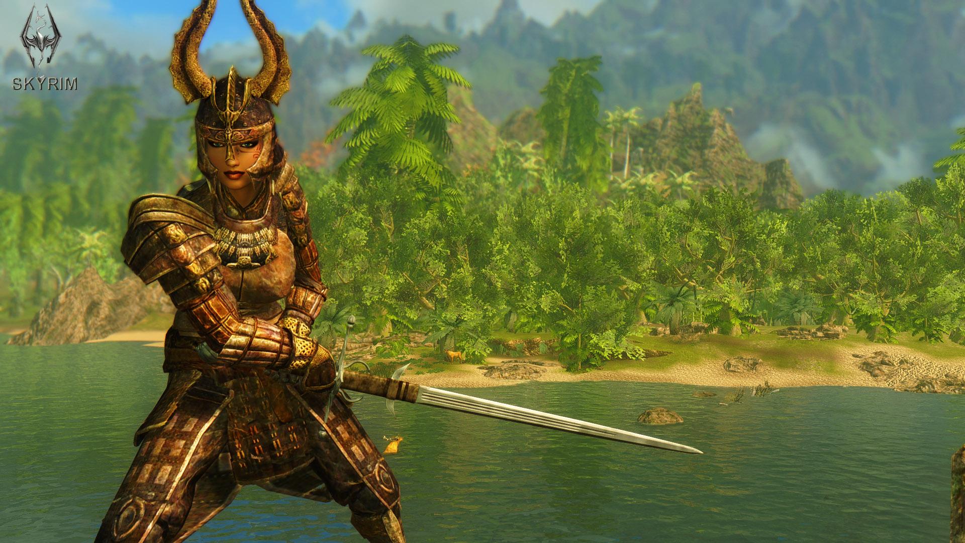 027. Древняя акавирская броня.jpg - Elder Scrolls 5: Skyrim, the CBBE, Сборка-21