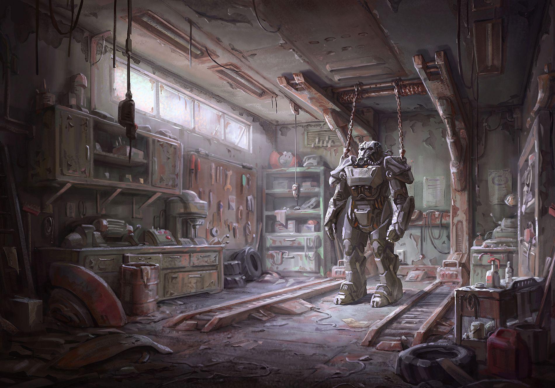Main menu - Fallout 4 арт главное меню