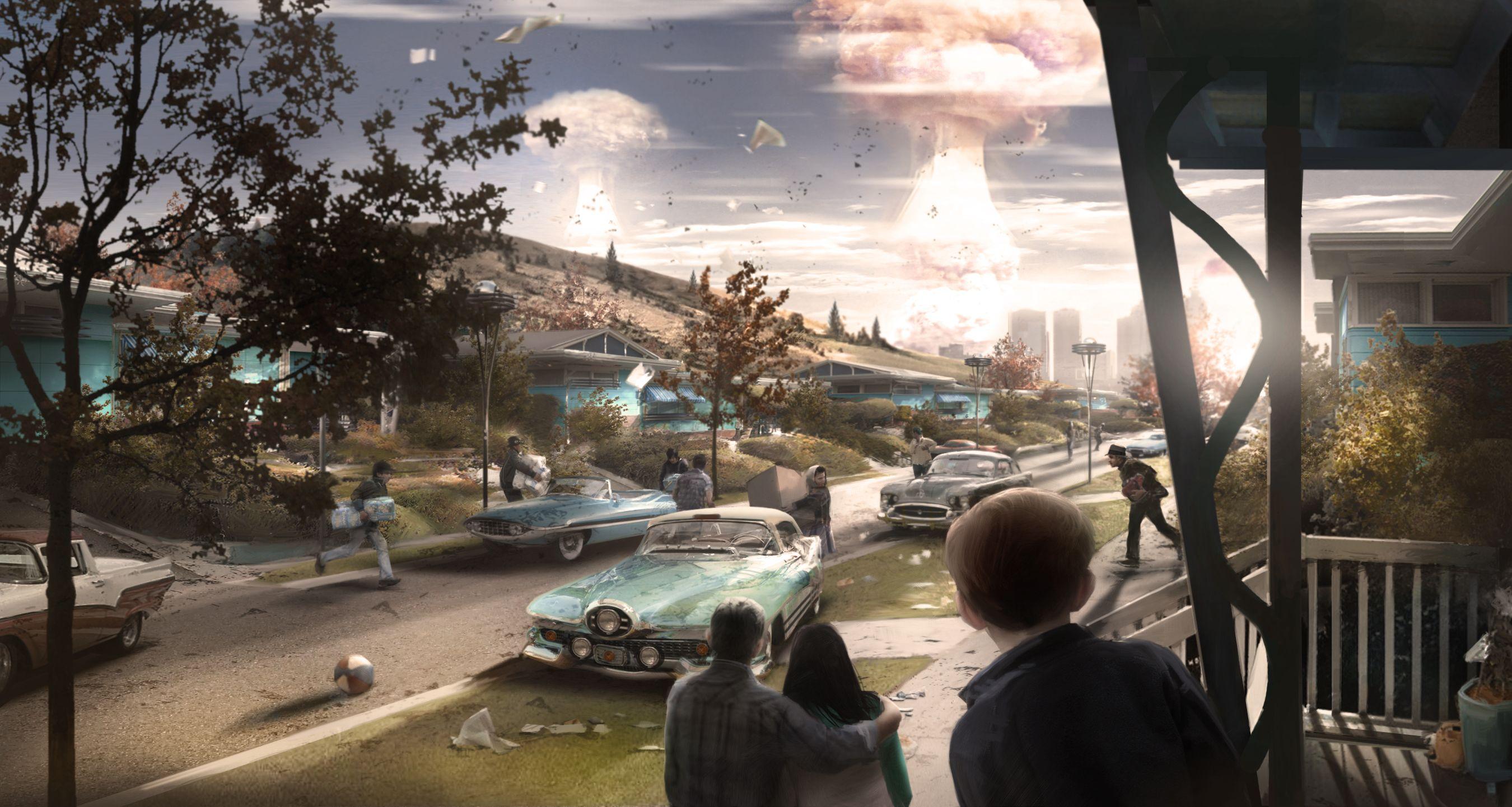 nuclear war - Fallout 4 арт бомбы ядерная война