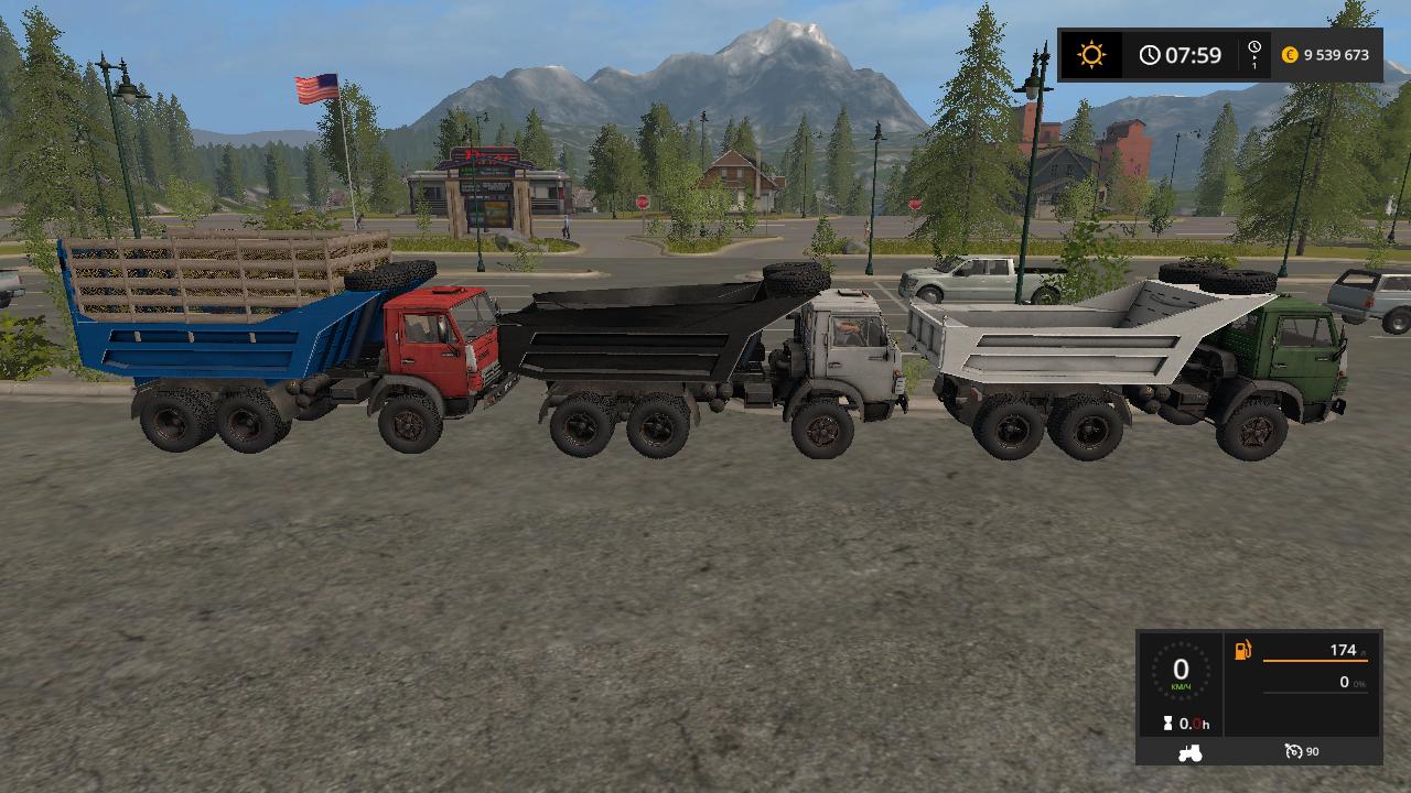 КАМАЗ 5511 V1 - Farming Simulator 17 Мод, Транспорт
