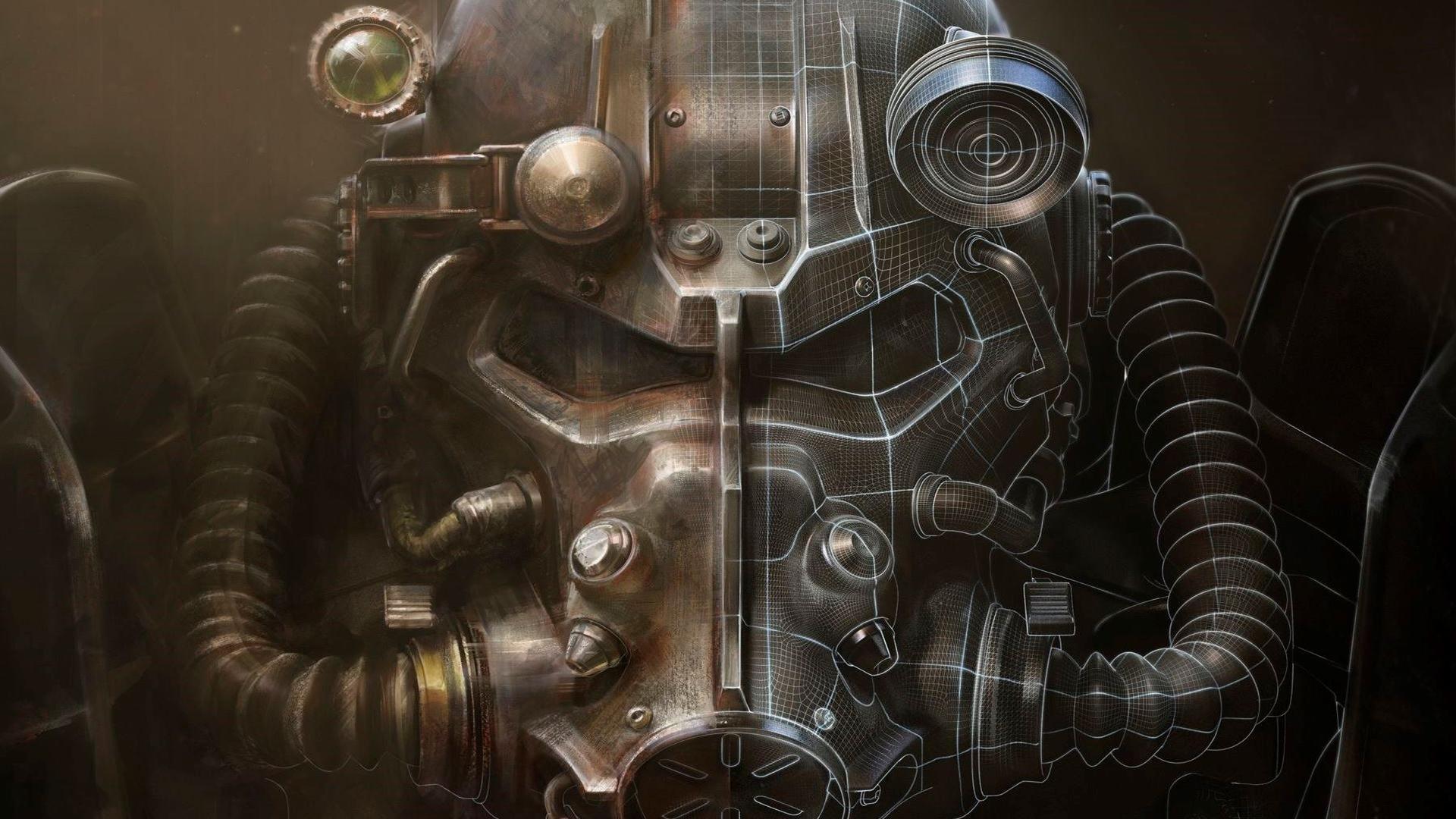 Шлем силовой брони - Fallout 4 арт, шлем силовой брони