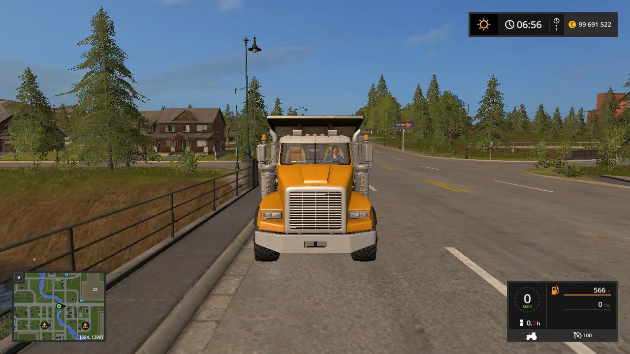 TWINSTAR TRI-AXLE DUMP TRUCK V1.0 - Farming Simulator 17 Мод, Транспорт