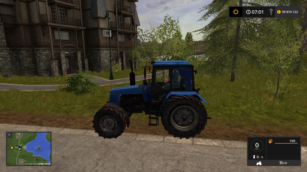 MTZ-1221 BELARUS BY CORAD60 - Farming Simulator 17 Мод, Транспорт