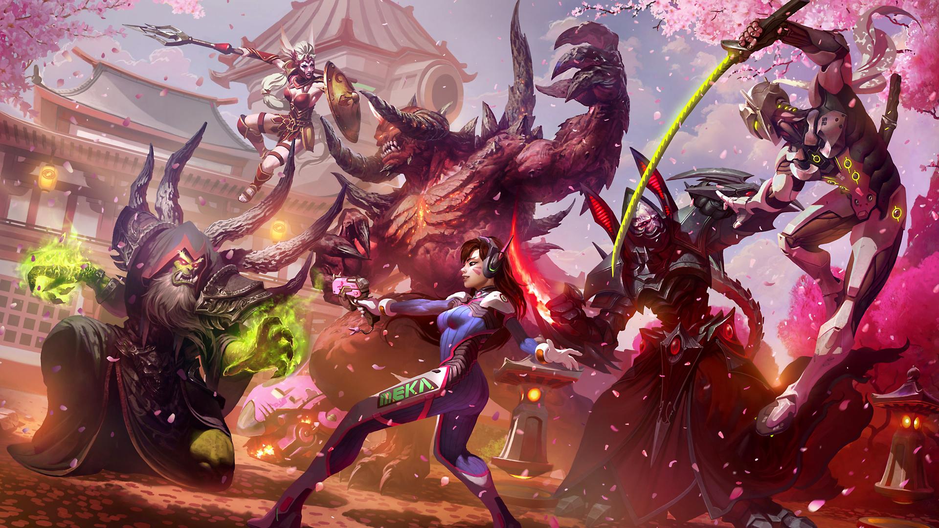 D.Va - Heroes of the Storm alarak, cassia, genji, Gul'dan, Арт