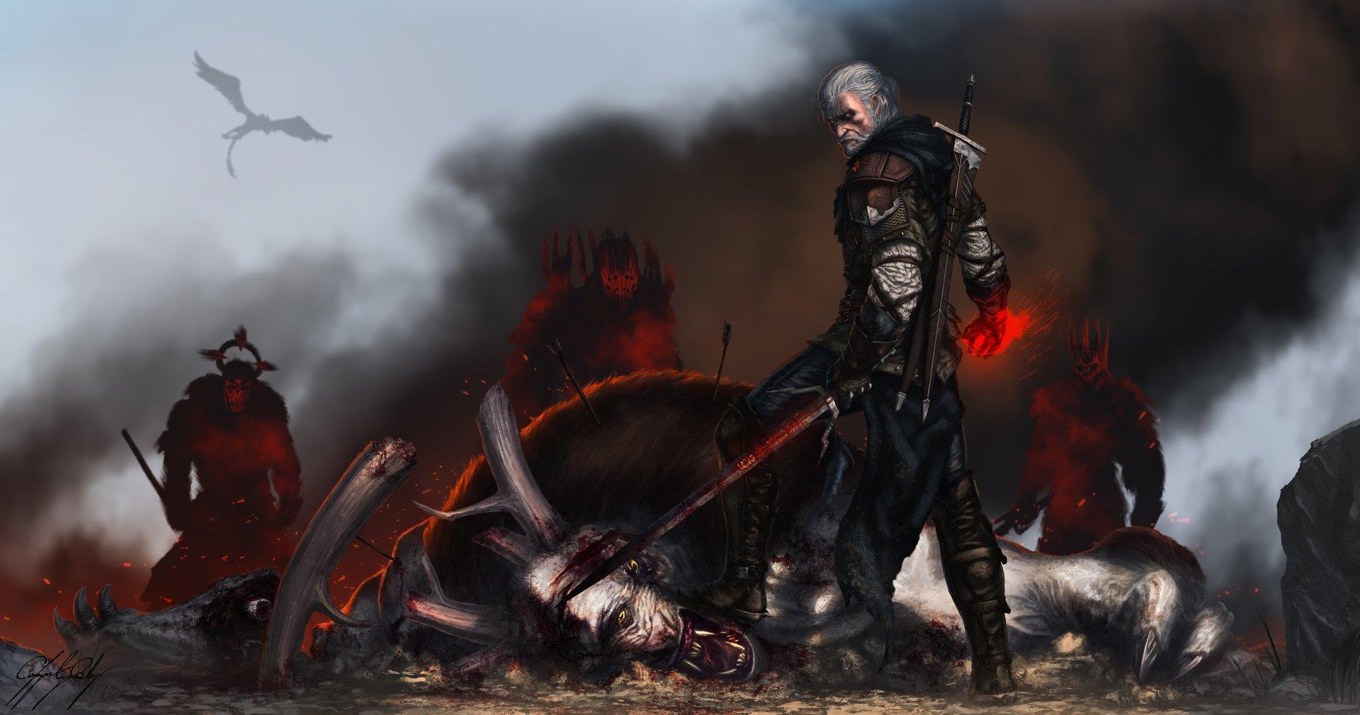 Геральт - Witcher 3: Wild Hunt, the Бес