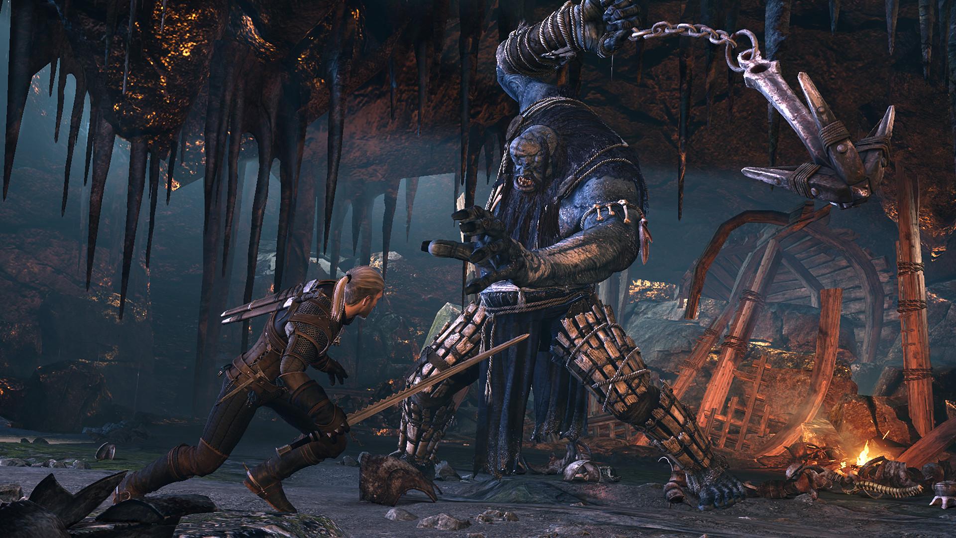 Геральт - Witcher 3: Wild Hunt, the Арт, Ледяной Великан