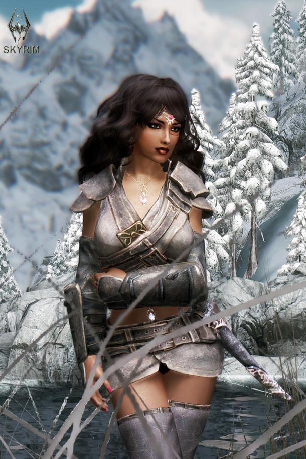 032. В зимнем лесу.jpg - Elder Scrolls 5: Skyrim, the CBBE, Сборка-21