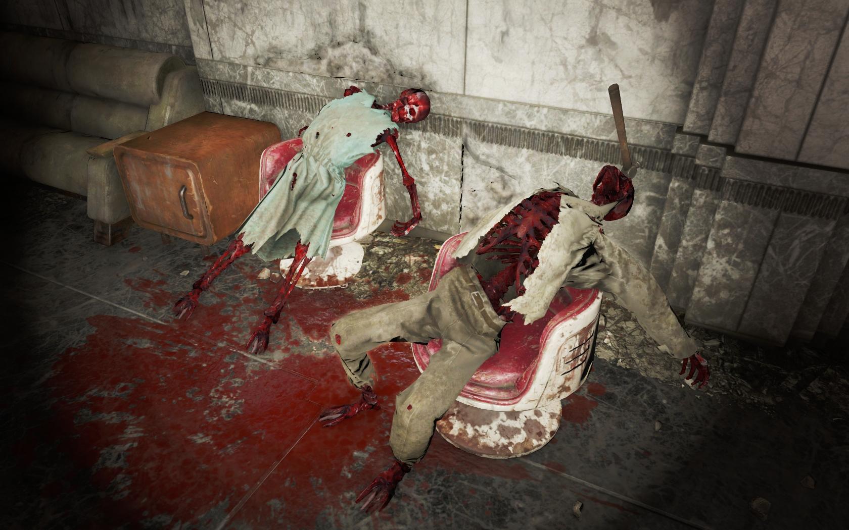Зверское убийство молотком (Фар-Харбор, Фабрика лимонада Вим!) v2 - Fallout 4 скелет