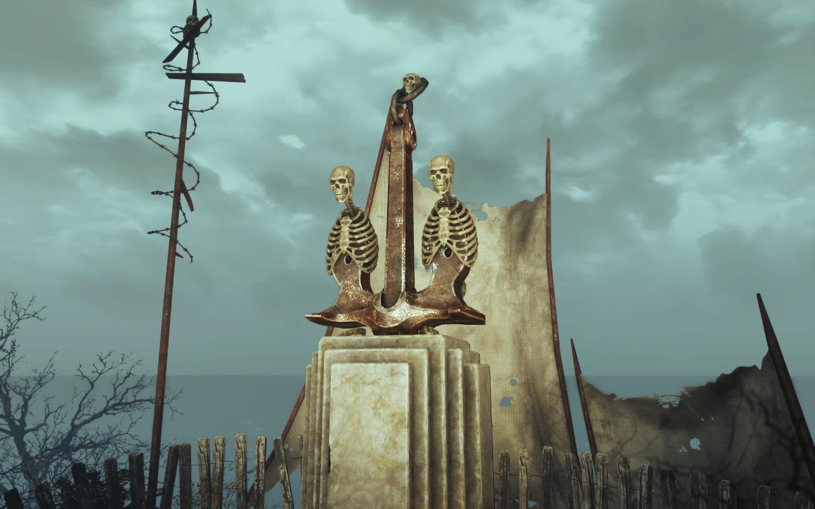 Якорь (Фар-Харбор, окрестности Азалии) v2 - Fallout 4 Азалия, скелет