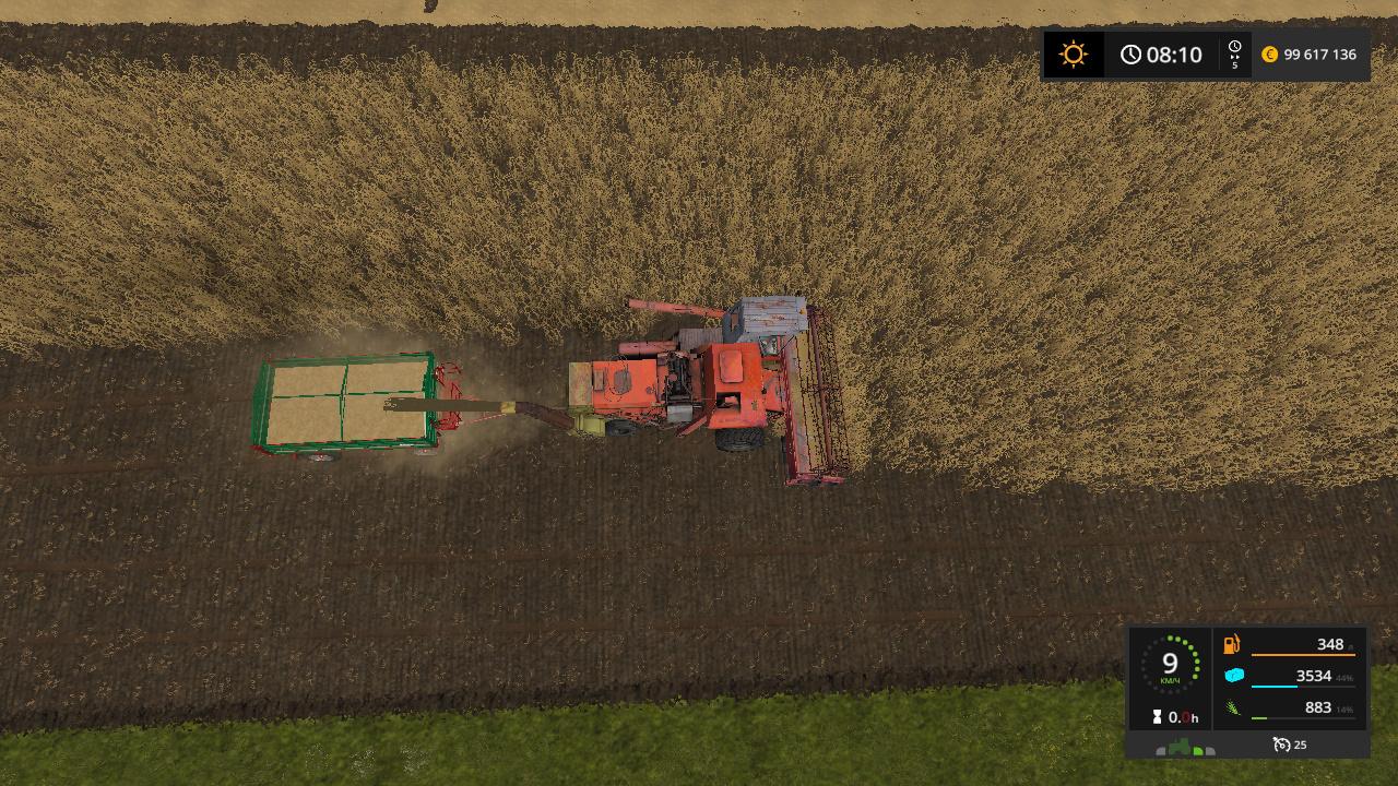 комбайн - Farming Simulator 17 жатка, Мод, пун, Транспорт
