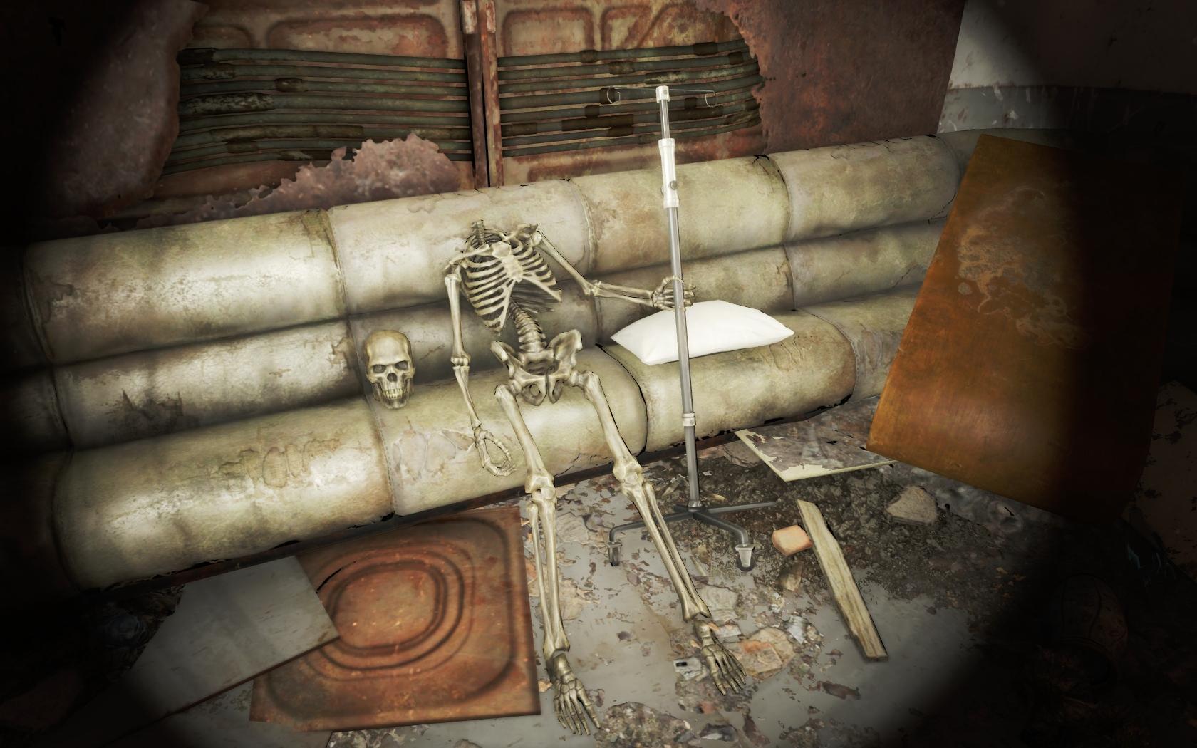 Голову лечит (Медцентр Массачусетс-Бэй) - Fallout 4 Массачусетс-Бэй, Медцентр, Медцентр Массачусетс-Бэй, скелет, Юмор