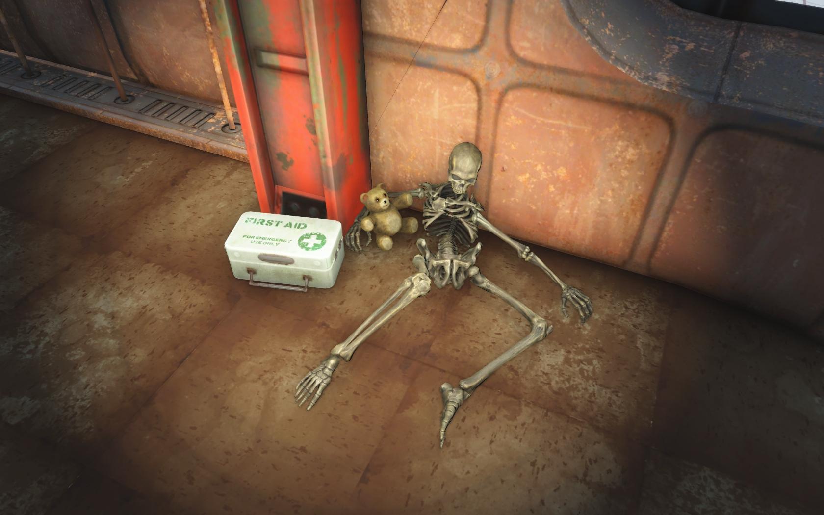 Последний утешитель (крыша здания у Фанер-Холл) - Fallout 4 скелет, Фанер-Холл, Юмор