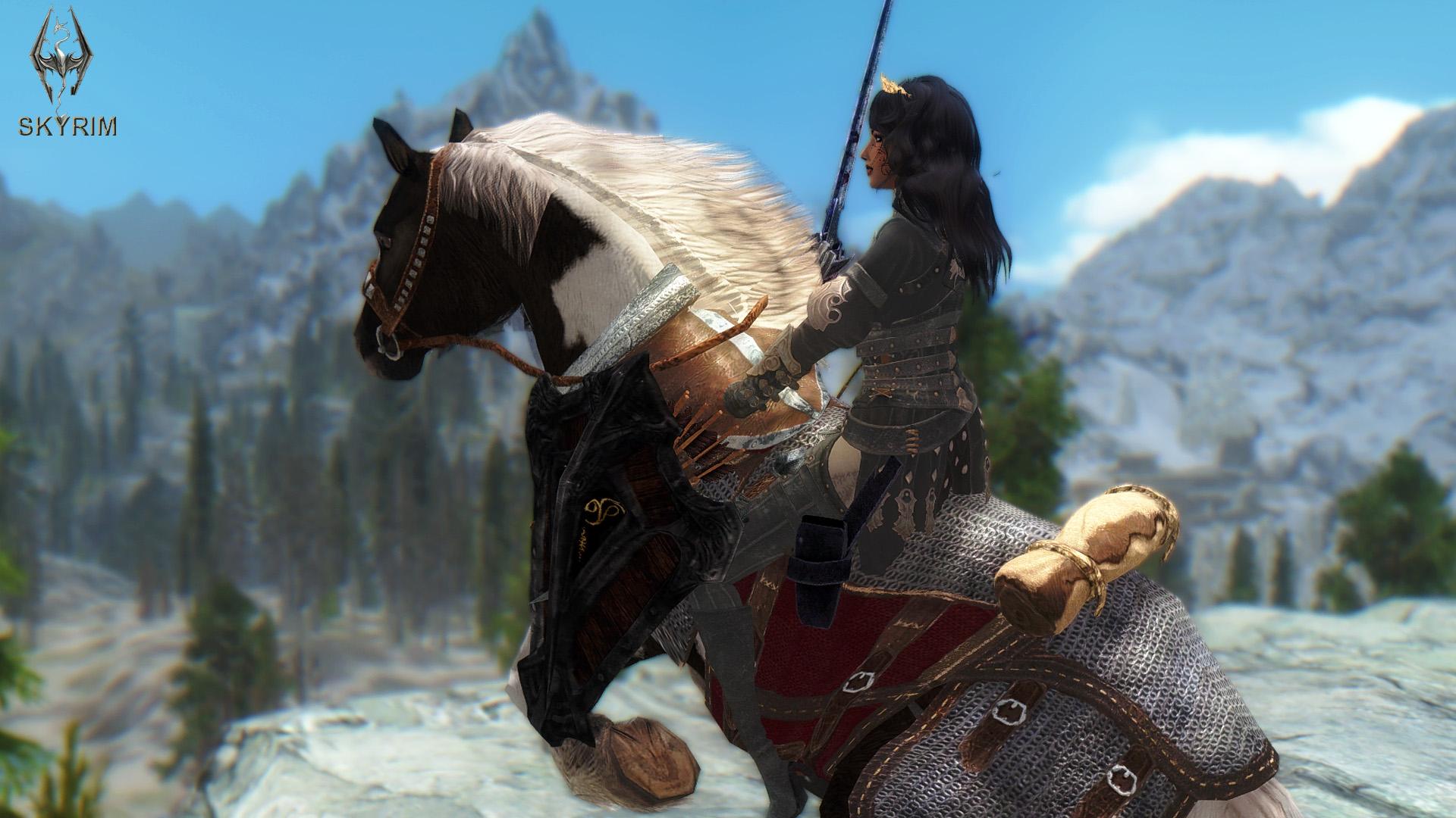 061. На коне.jpg - Elder Scrolls 5: Skyrim, the CBBE, Сборка-21