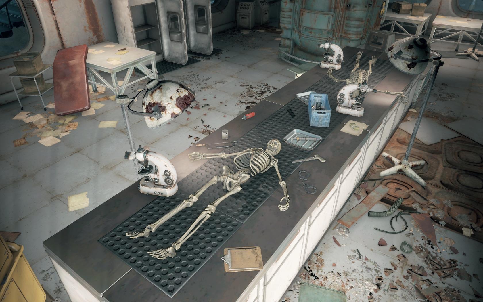 Операция с элементами насилия (Мед-Тек Рисёрч) v2 - Fallout 4 Мед-Тек Рисёрч, скелет