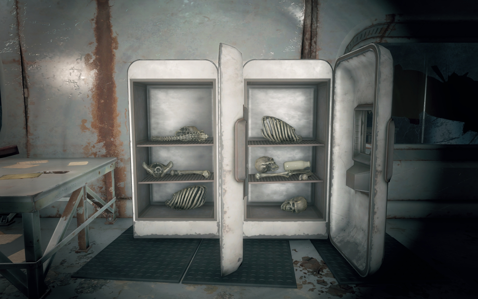 Холодильник полный жрачки - 2 (Мед-Тек Рисёрч) v2 - Fallout 4 Мед-Тек Рисёрч, скелет, холодильник
