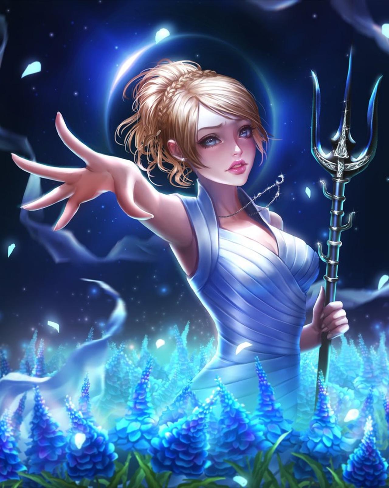 Final Fantasy 15 Лунафрейя Нокс Флюрет бывшая принцесса Тенебрэ - Final Fantasy 15 Арт, Лунафрейя