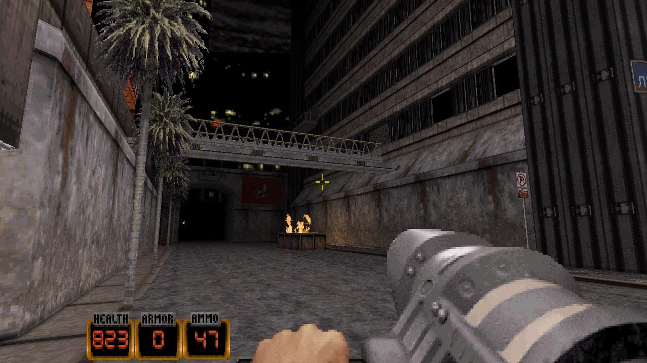 Переделанный первый уровень - Duke Nukem 3D