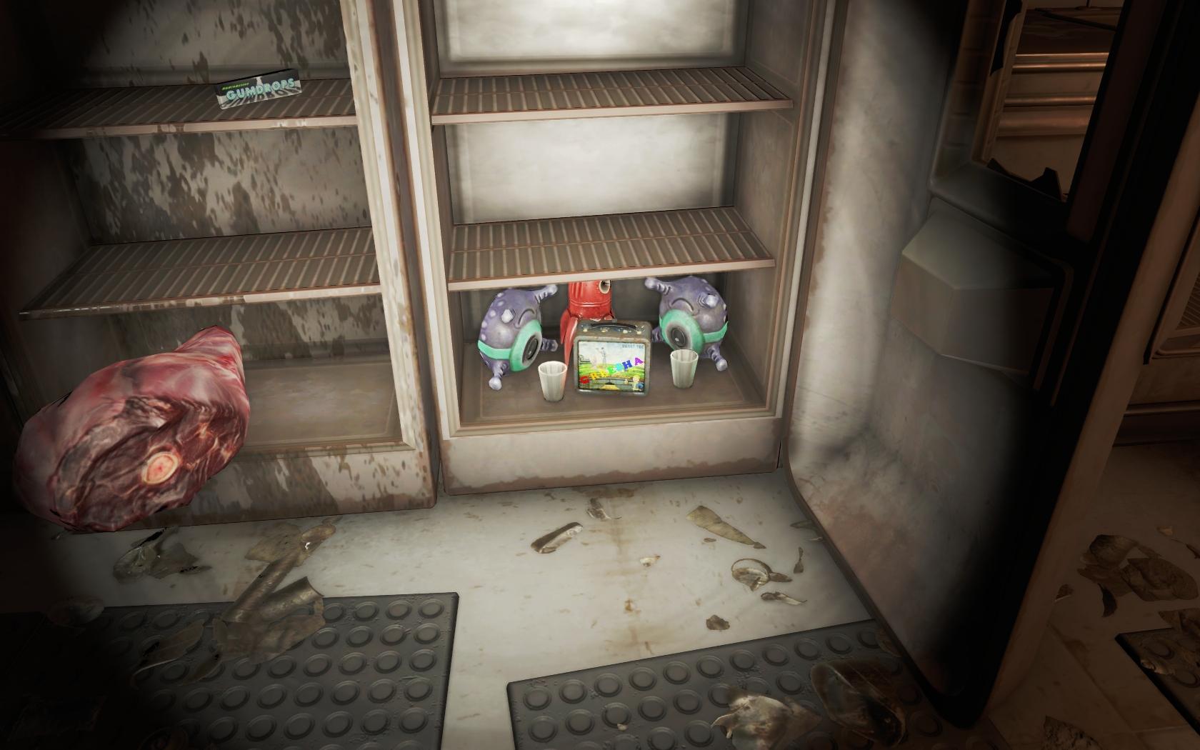 Инопланетяне гуляют (Бар Лента новостей) - Fallout 4 Бар, Бар Лента новостей, игрушечный инопланетянин, инопланетянин, Лента новостей, Юмор