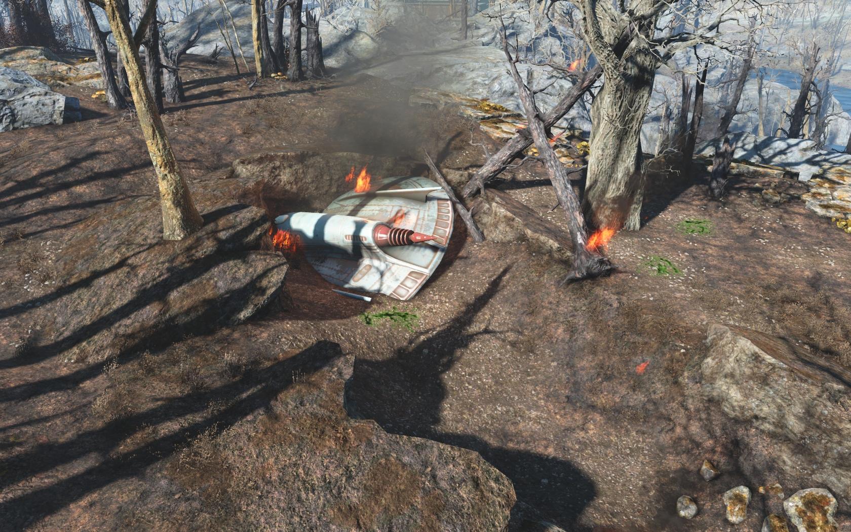 Крушение Чужого (юго-восточнее Станции Оберленд) #1 - Fallout 4 Дзетанец, НЛО, Оберленд, Чужой