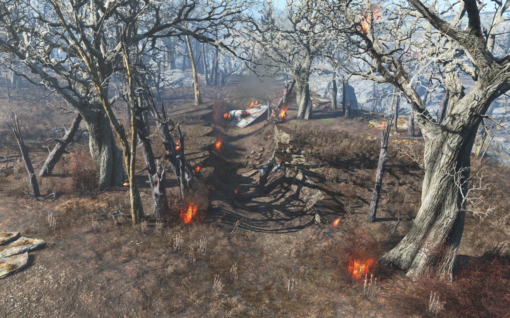 Крушение Чужого (юго-восточнее Станции Оберленд) #2 - Fallout 4 Дзетанец, НЛО, Оберленд, Чужой
