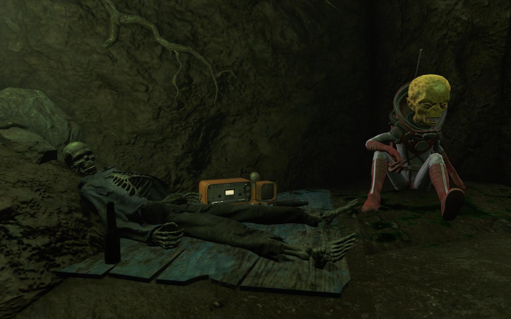 Чужой в пещере (юго-восточнее Станции Оберленд) #3 - Fallout 4 Дзетанец, Оберленд, пещера, Чужой