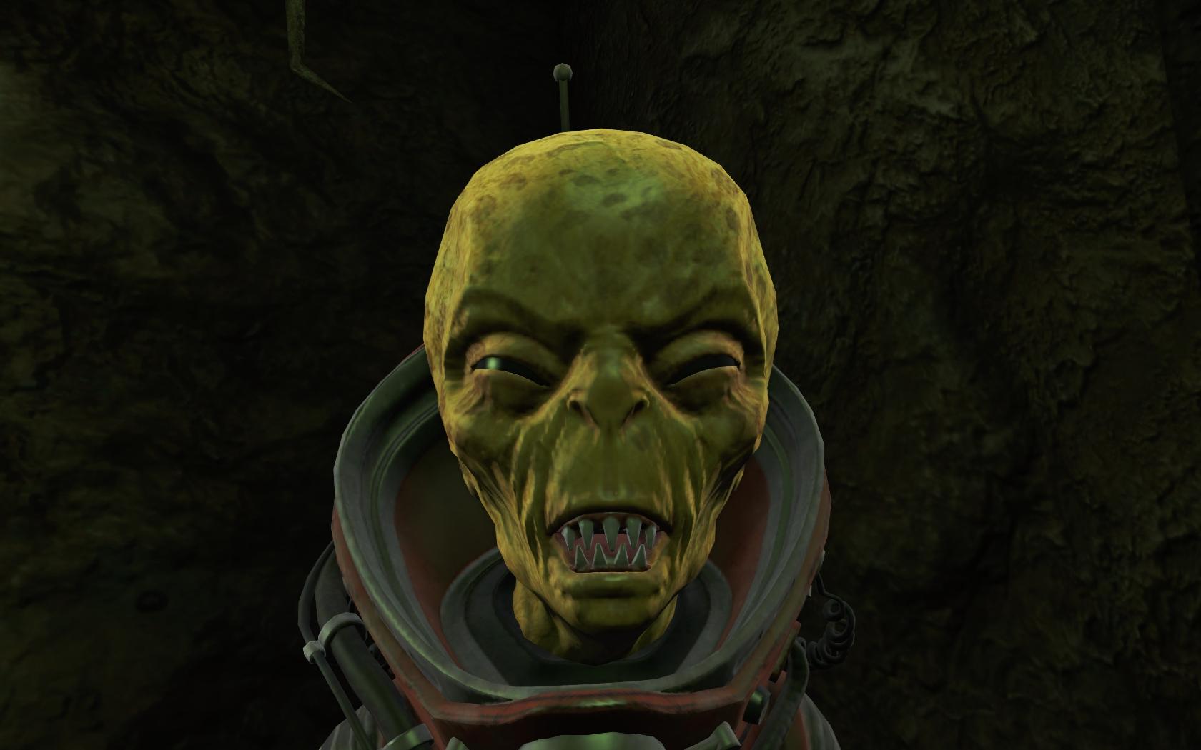Чужой в пещере (юго-восточнее Станции Оберленд) #5 - Fallout 4 Дзетанец, Оберленд, пещера, Чужой