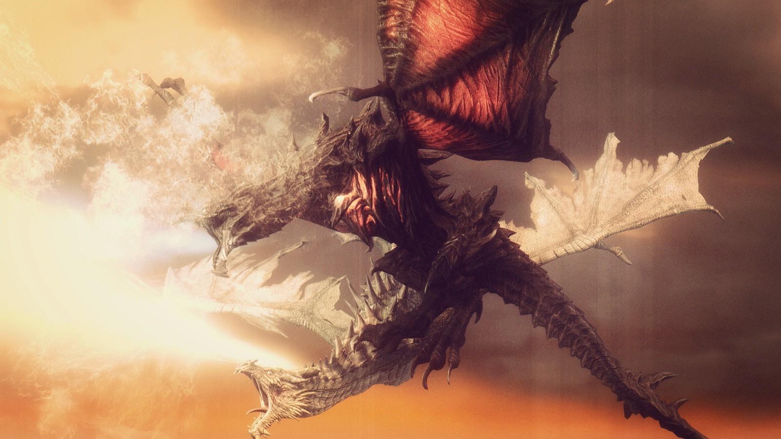 1600x900_px_dragon_The_Elder_Scrolls_V_Skyrim-658474.jpg!d.jpg - Elder Scrolls 5: Skyrim, the Дракон