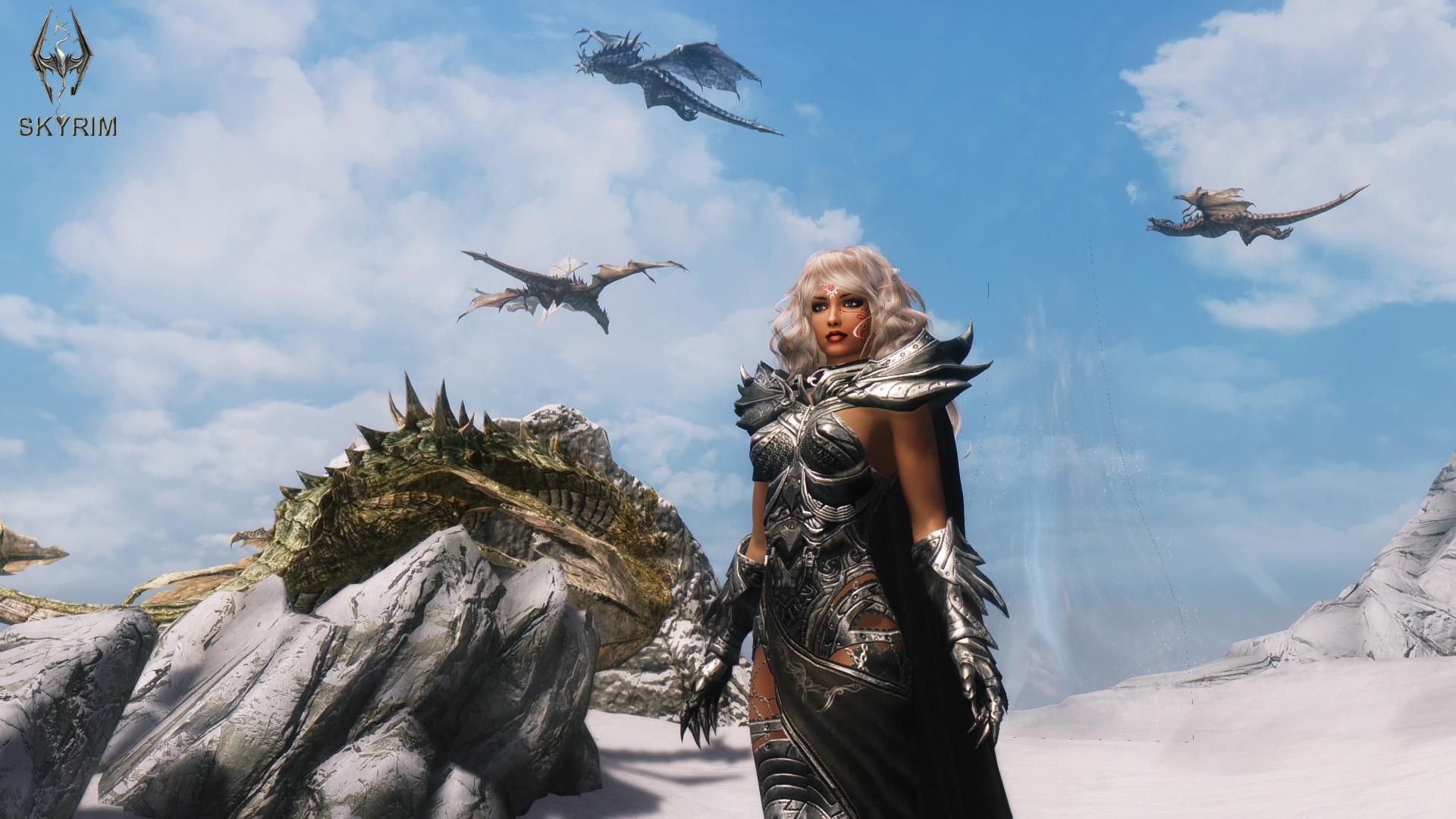 106. Драконы приветствуют Дову.jpg - Elder Scrolls 5: Skyrim, the CBBE, Сборка-21