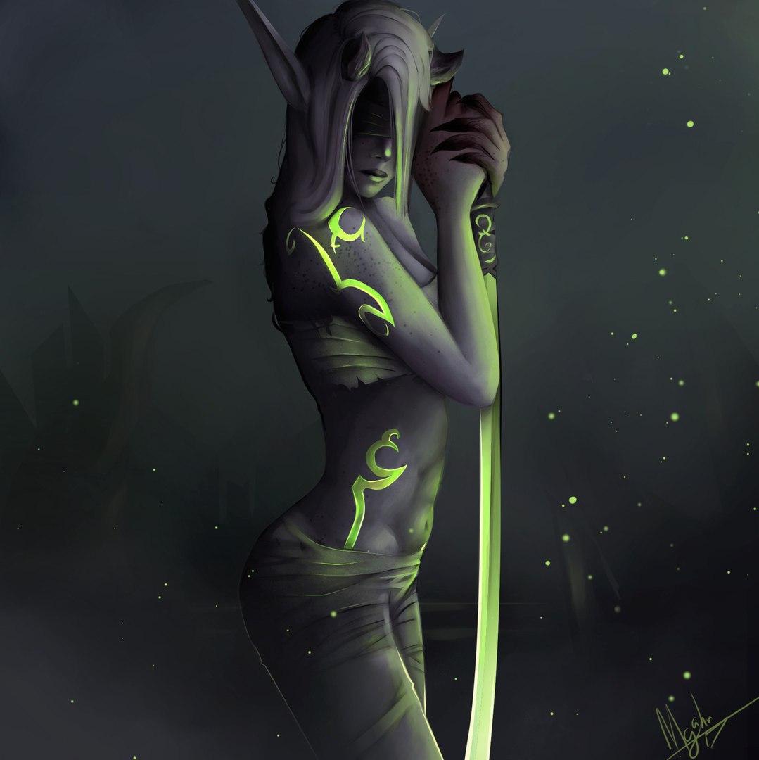 45Jo3npfsgs.jpg - World of Warcraft Demon Hunter Fem, Арт