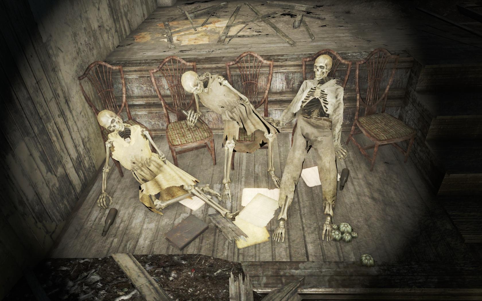 2+1. Самая трезвая должна была пойти домой (Юниверсити-пойнт) - Fallout 4 скелет, Юмор, Юниверсити-пойнт