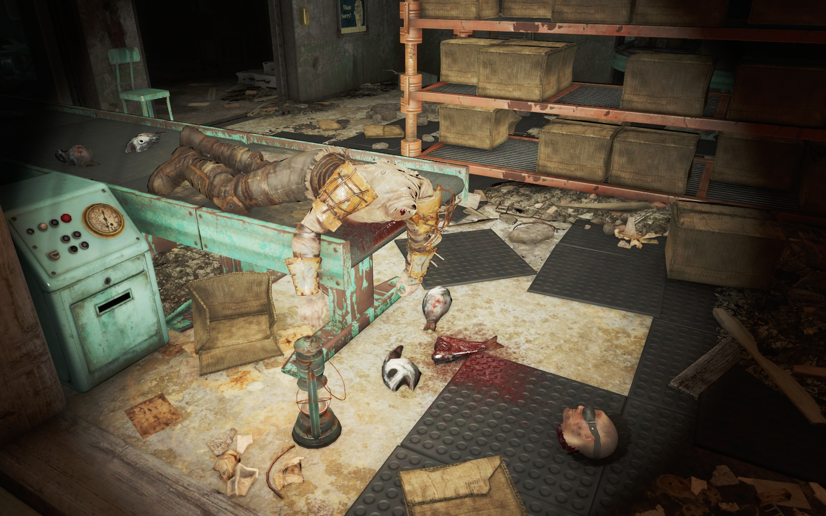 Очень несвежая рыба была (Рыбный завод Мэхкра) - Fallout 4 Рыбный завод Мэхкра, Юмор