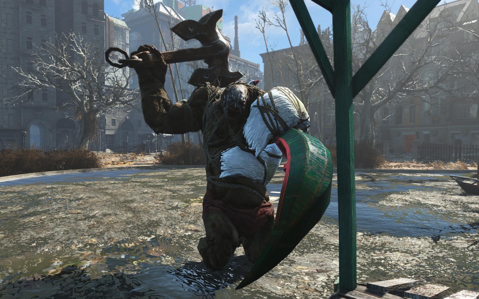 Лебедь 1 - Fallout 4 Лебедь, супермутант, Чудище