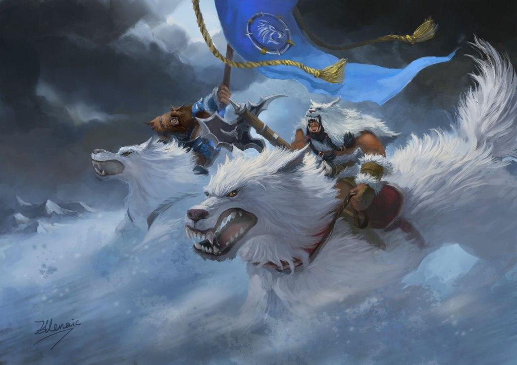 KydjFUyyv_U.jpg - World of Warcraft Арт, Северные Волки