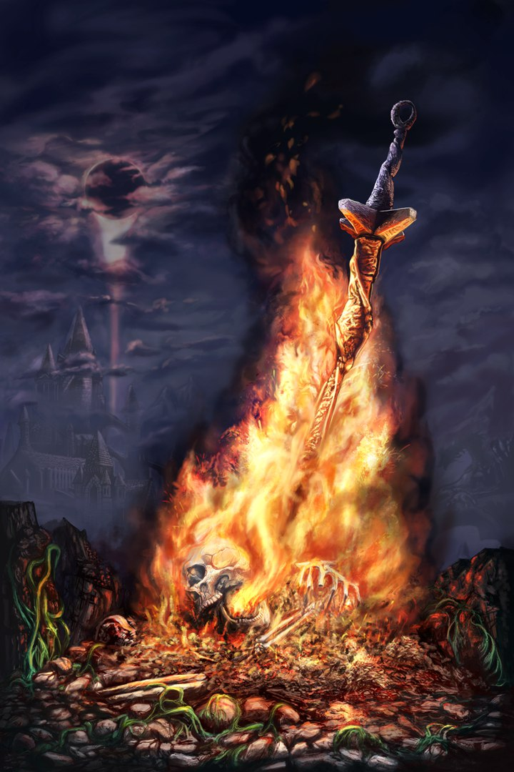 pxcphKNDVUk.jpg - Dark Souls 3 Арт, Костер