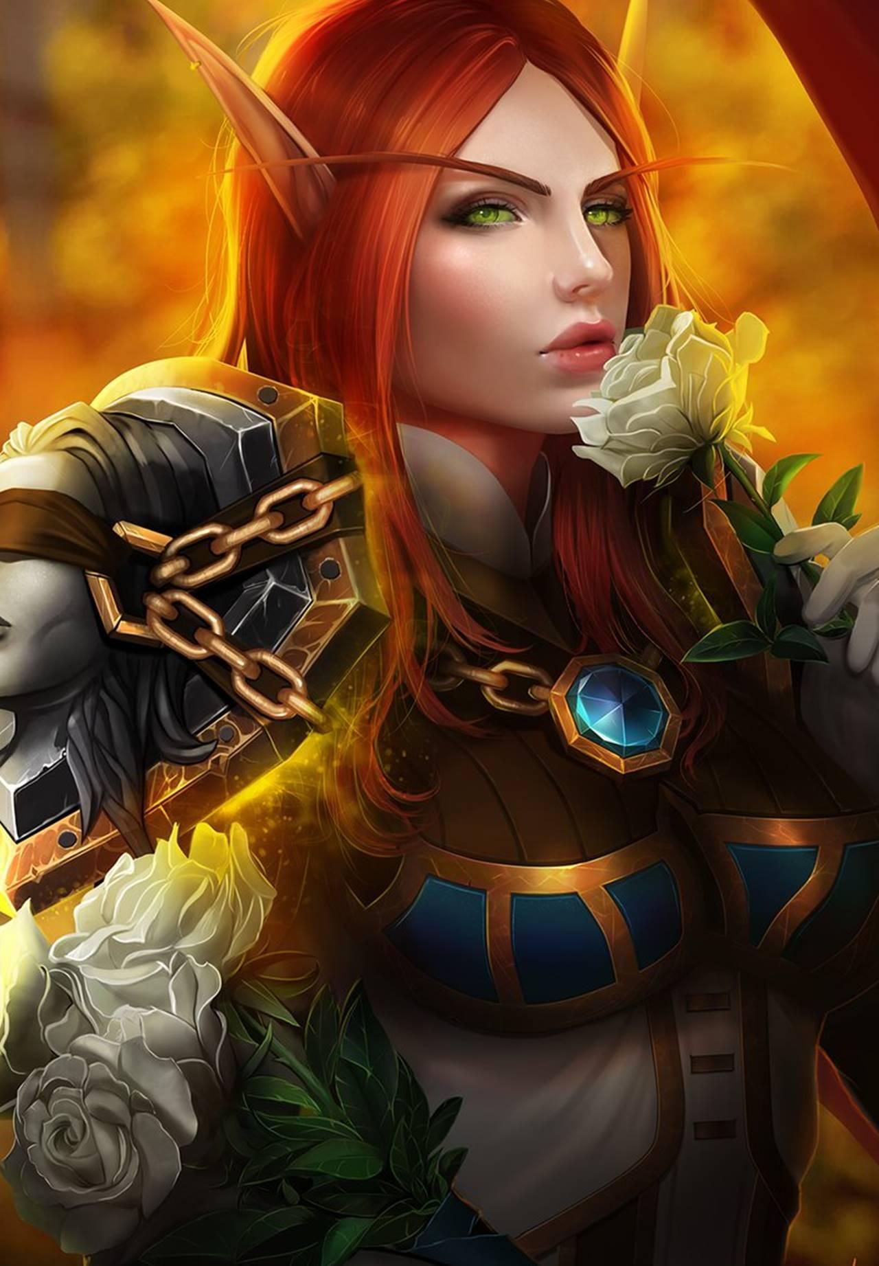 World of Warcraft Legion эльфийка крови - World of Warcraft Арт, Персонаж