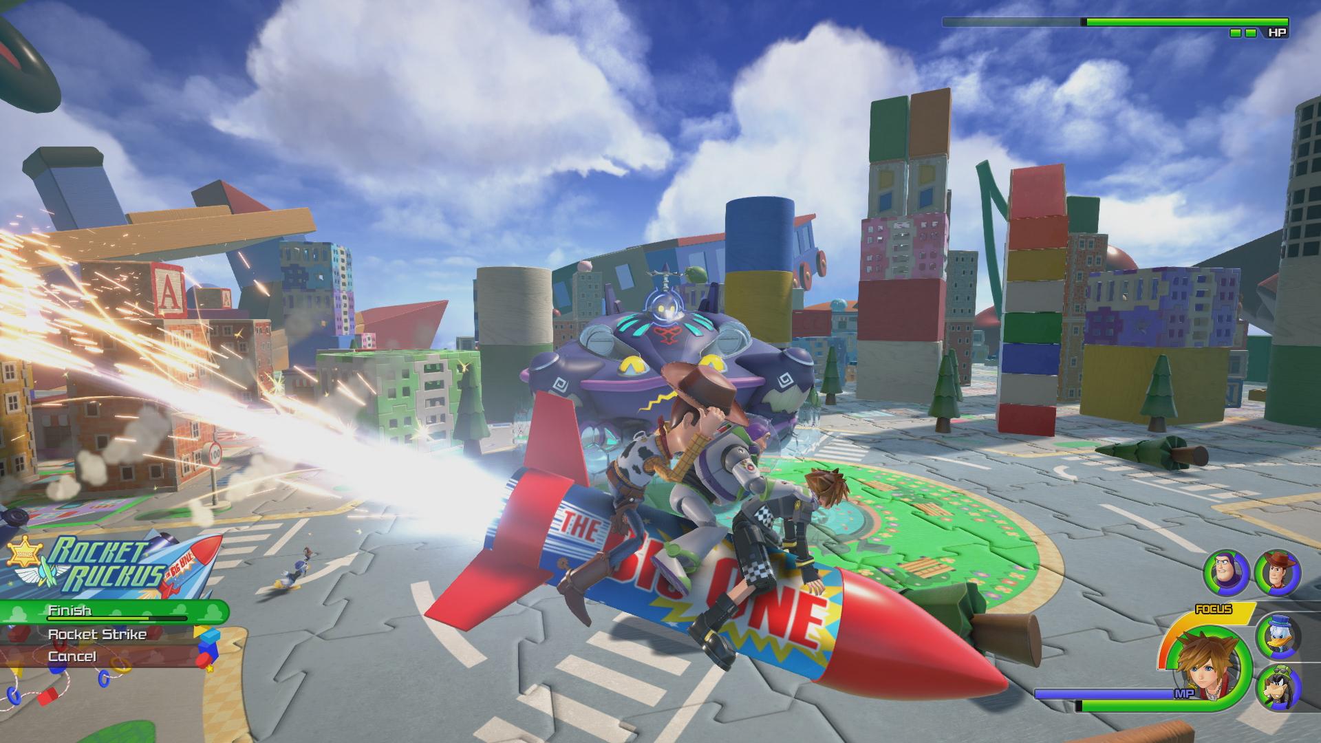 Полёт на ракете - Kingdom Hearts 3