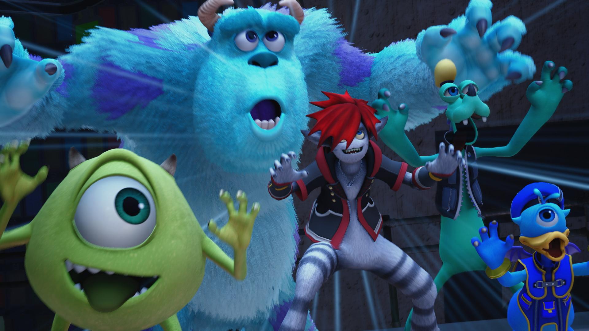 Майк, Салли, Сора, Гуфи и Дональд Дак - Kingdom Hearts 3
