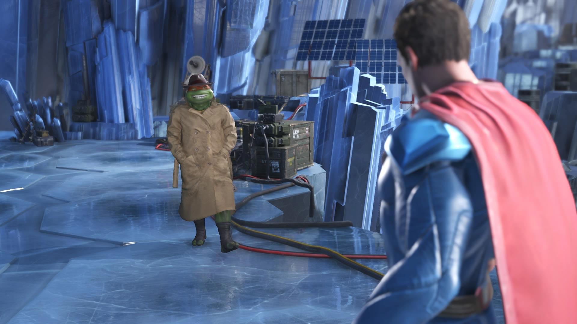 Микеланджело против Супермена - Injustice 2 Скриншот, Черепашка